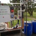 pH control dosing systems for water treatment