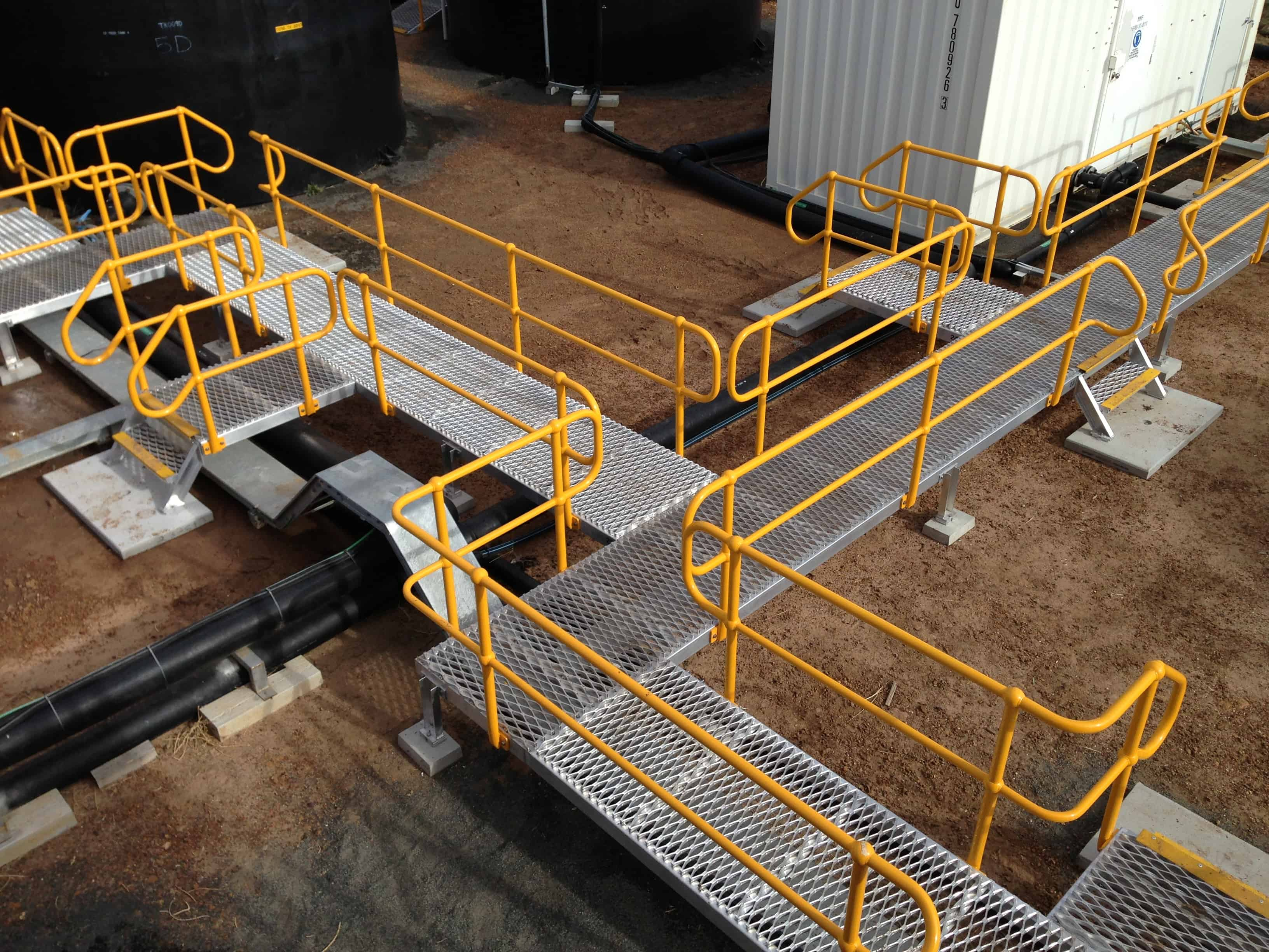 Custom fabricated access platforms and stairs