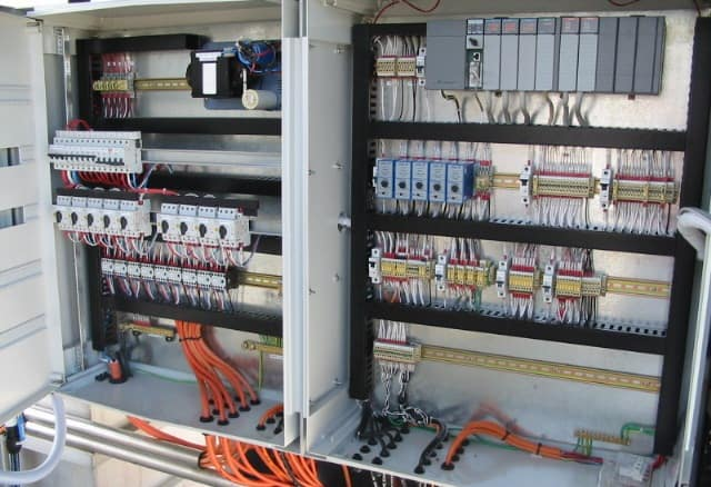 PLC control panels for wastewater treatment