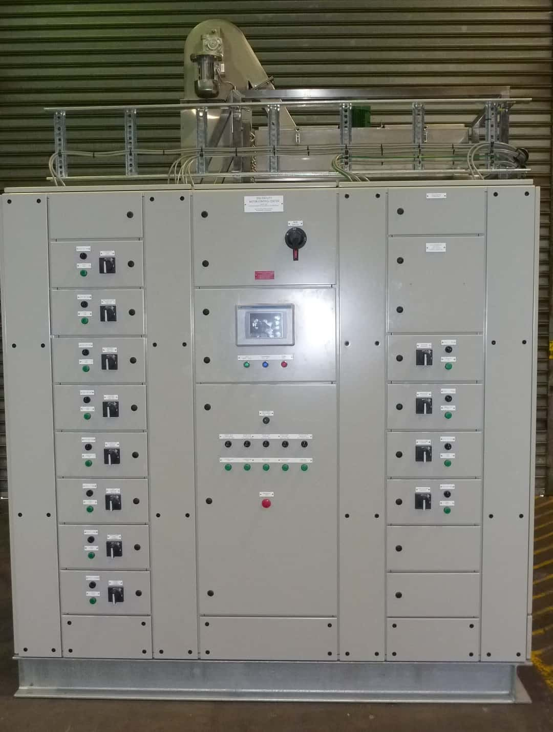 Skid mount control panel for custom fabricated wasterwater treatment equipment