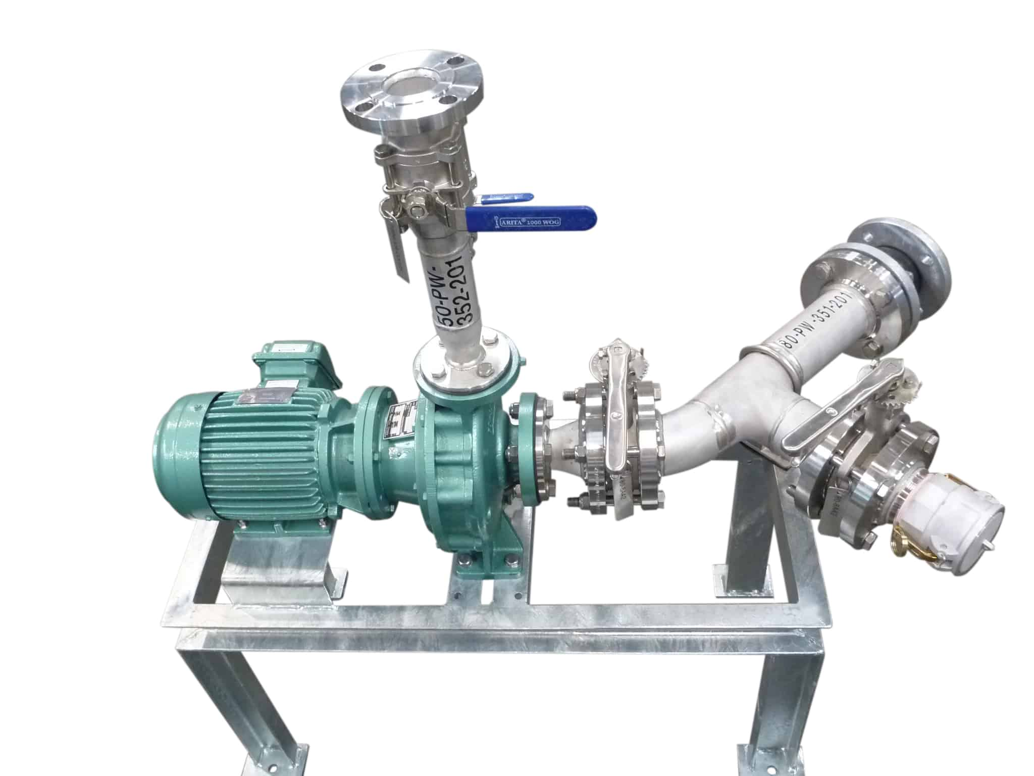 Custom process systems with pump and valves of any type