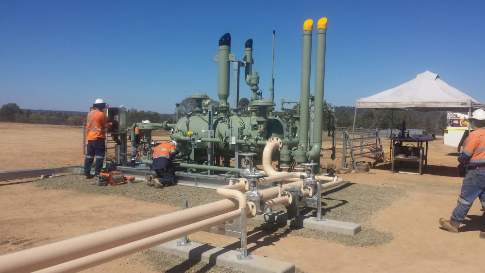 Pressure pipe installed